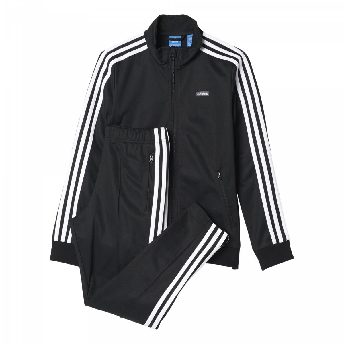 adidas schwarz weiß anzug