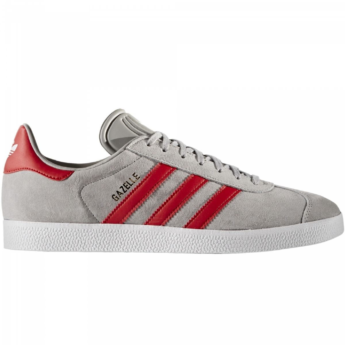 adidas originals gazelle sneaker herren schuhe grau rot bb5257 sport klingenmaier. Black Bedroom Furniture Sets. Home Design Ideas