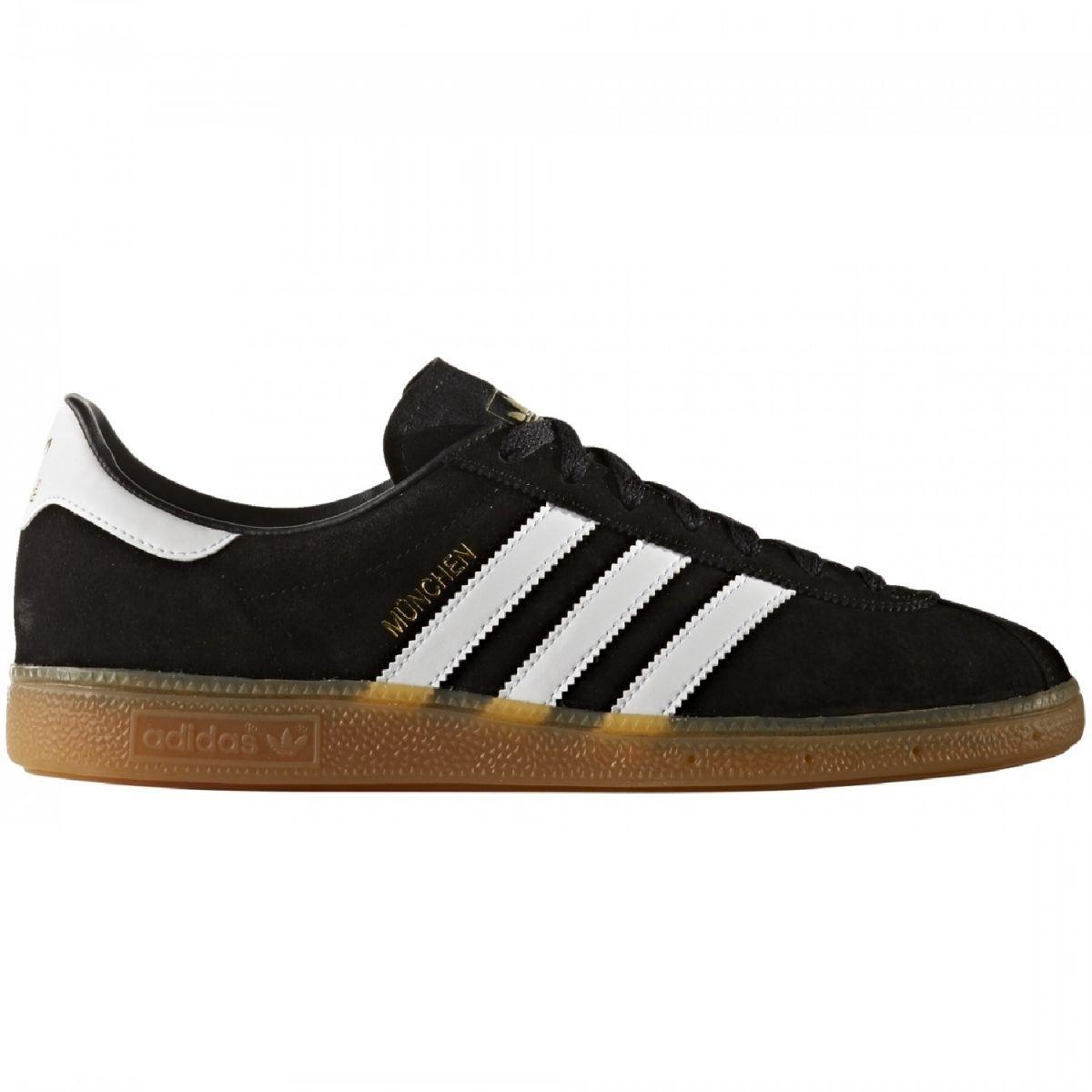 adidas Originals München Sneaker Herren Schuhe schwarz weiß