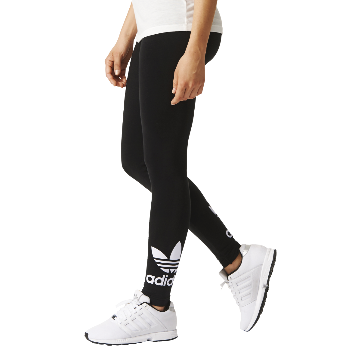 adidas originals trefoil leggings damen schwarz aj8153 sport klingenmaier. Black Bedroom Furniture Sets. Home Design Ideas