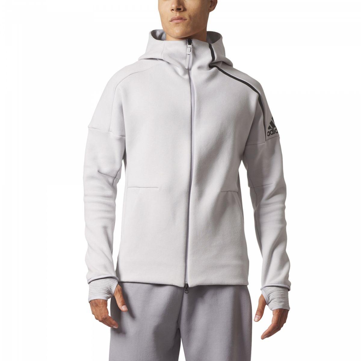 adidas zne hoodie pulse herren kapuzenjacke grau bq0074. Black Bedroom Furniture Sets. Home Design Ideas