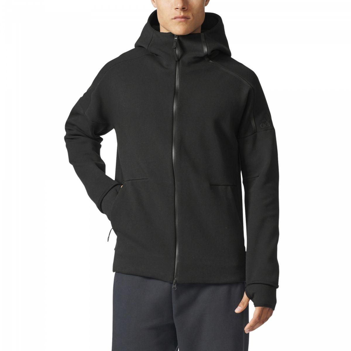 adidas zne hoody herren kapuzenjacke schwarz bq6925 sport klingenmaier. Black Bedroom Furniture Sets. Home Design Ideas