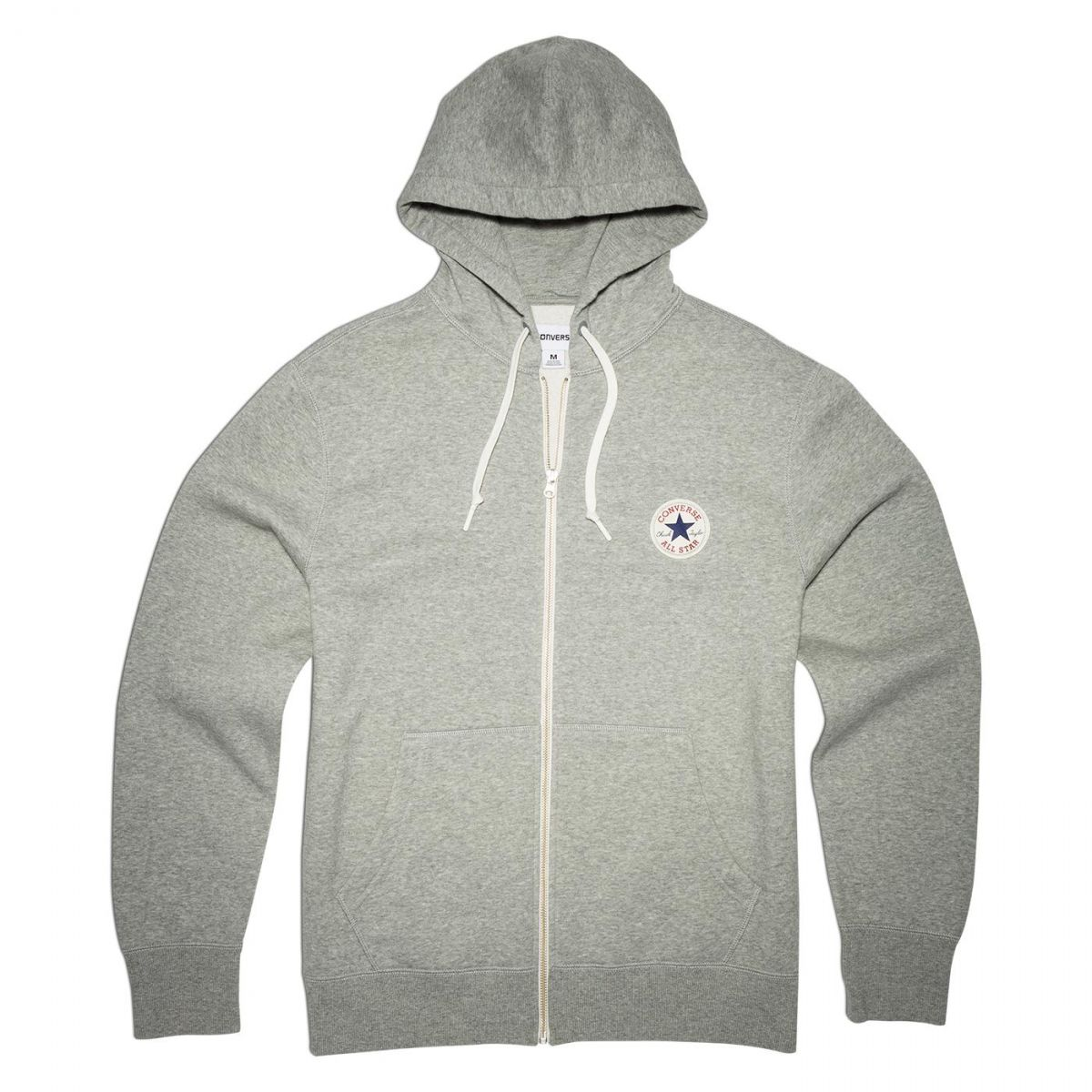 converse core full zip hoodie herren kapuzenjacke grau 10002131 a01 sport klingenmaier. Black Bedroom Furniture Sets. Home Design Ideas