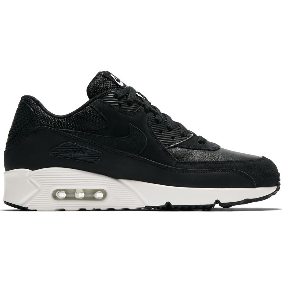 Nike Air Max 90 Ultra 2.0 Leather Schuhe Herren Sneaker Leder Schwarz 924447 001