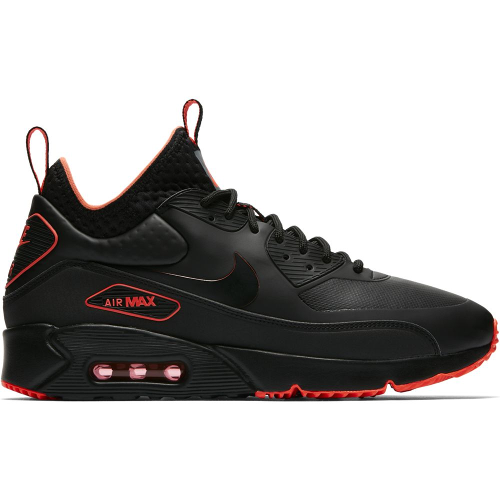 nike air max 90 ultra mid winter se sneaker herren schuhe schwarz rot aa4423 001 sport. Black Bedroom Furniture Sets. Home Design Ideas