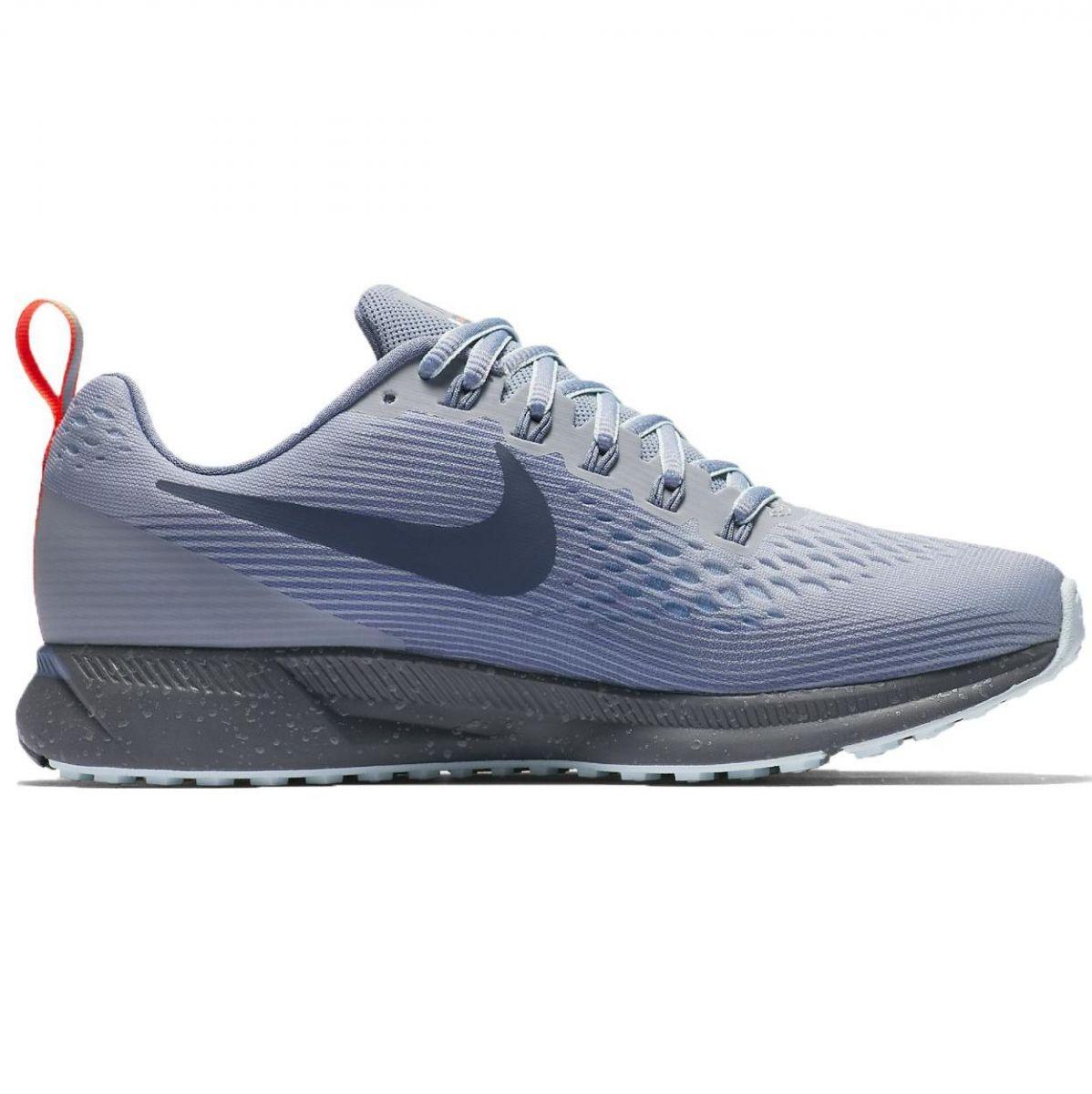 timeless design fe57c c3caf Nike Air Zoom Pegasus 34 Shield Damen Laufschuhe Running grau