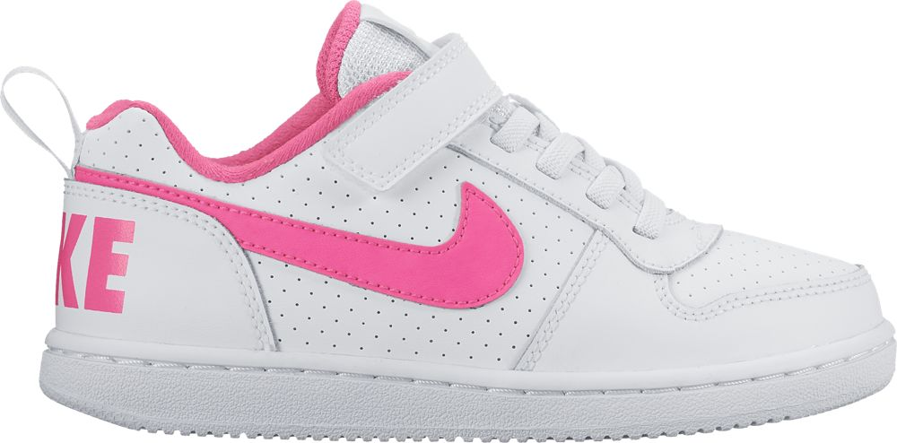 outlet store 56674 6a67c Nike Court Borough Low PS Sneaker Kinder Schuhe Mädchen weiß pink