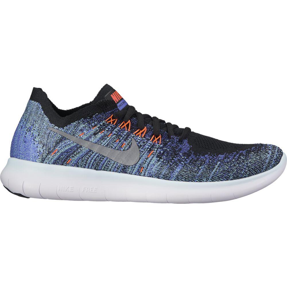 outlet store e71b5 632d2 Nike Free RN Flyknit 2017 Running Shoe Damen Laufschuhe blau schwarz