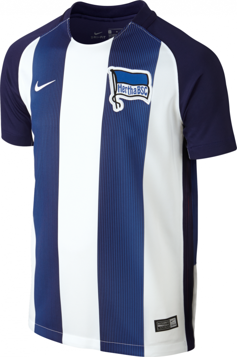 nike hertha bsc berlin home trikot kinder 2016 2017 blau weiss 808549 421 sport klingenmaier. Black Bedroom Furniture Sets. Home Design Ideas