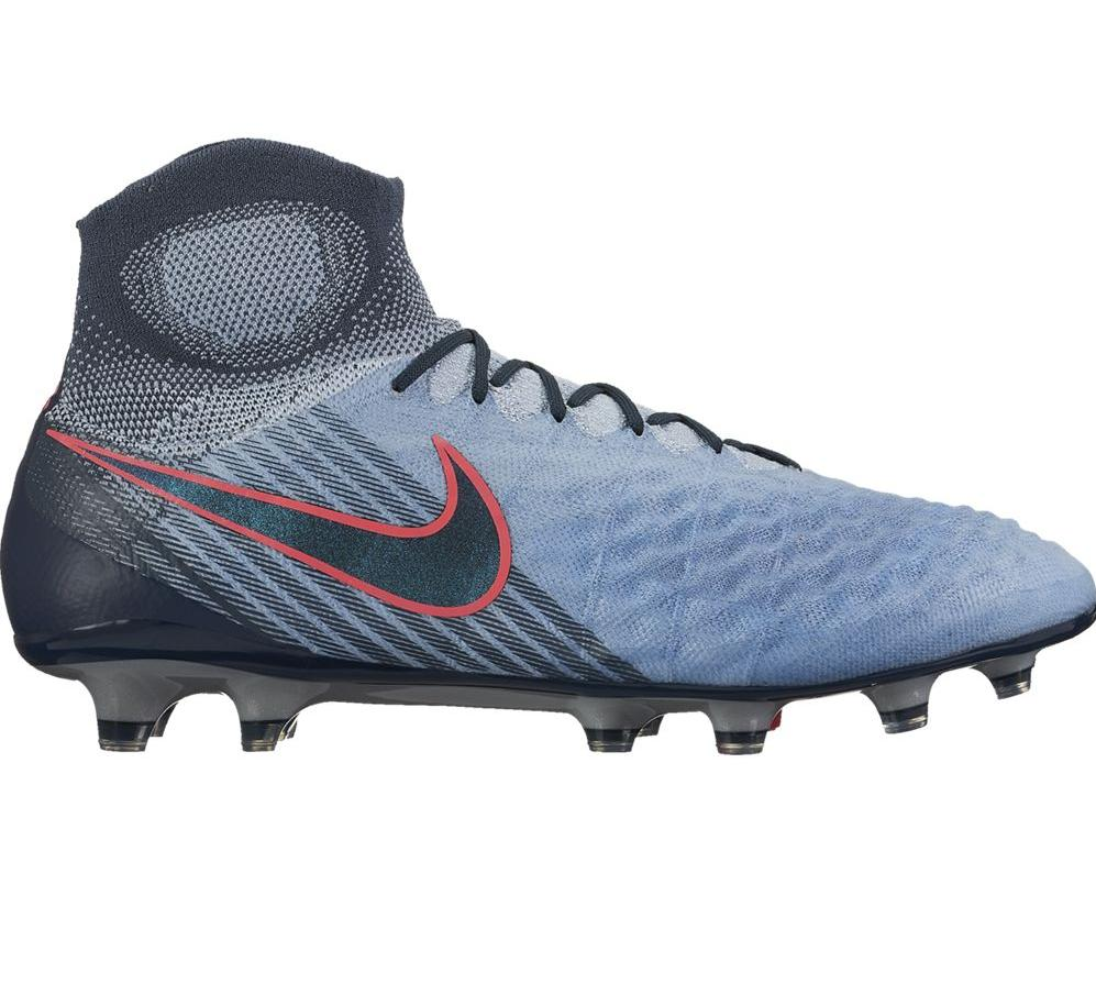 low priced c3c90 ac4d8 Nike Magista Obra II FG Herren Fußballschuhe Nocken blau grau ...