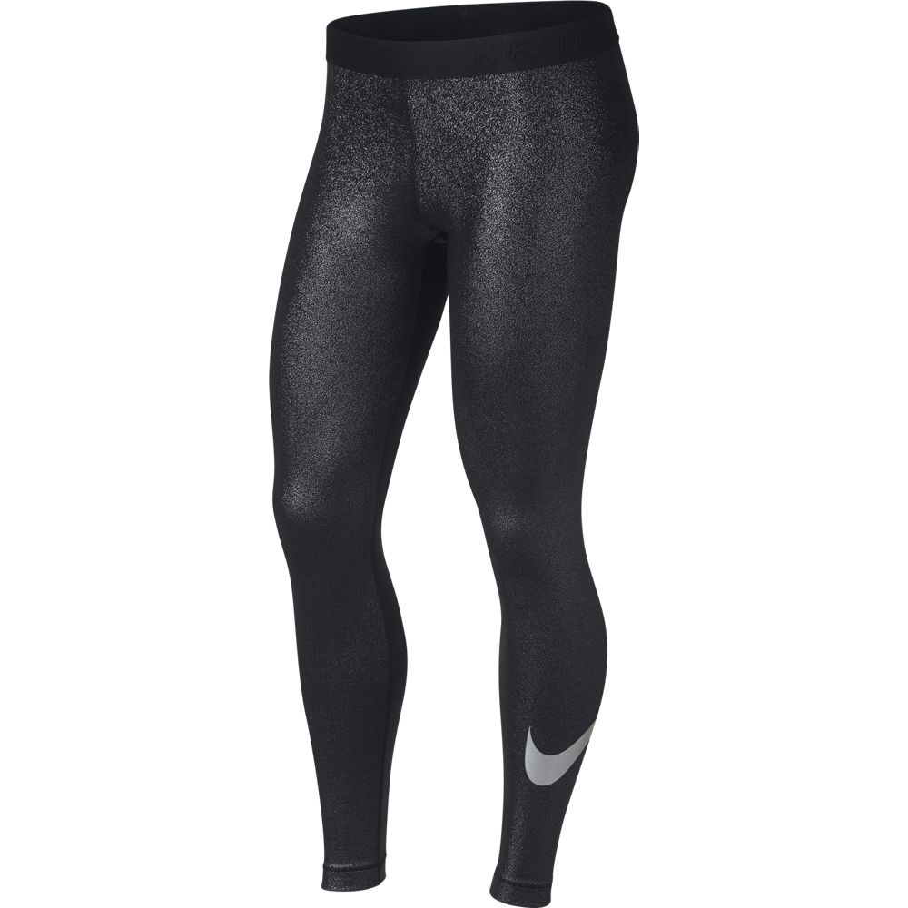 nike pro sparkle damen trainings tight leggings schwarz. Black Bedroom Furniture Sets. Home Design Ideas