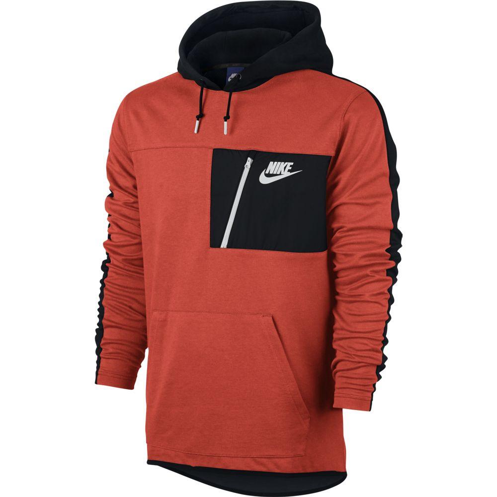Nike Sportswear Advance 15 Herren Kapuzenpullover rot schwarz ... 3f52493e4e