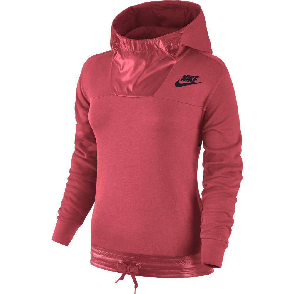 nike sportswear advance 15 hoodie damen kapuzenpullover rot 804018 850 sport klingenmaier. Black Bedroom Furniture Sets. Home Design Ideas