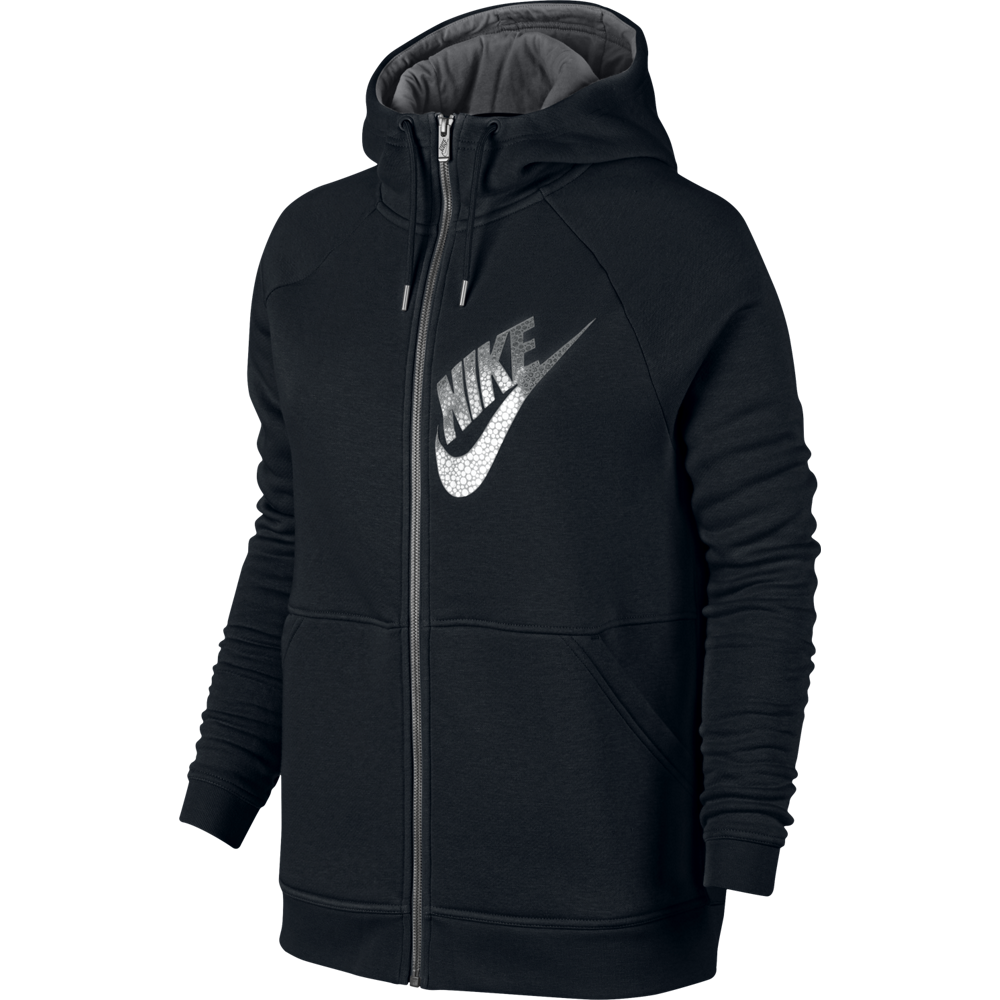 nike sportswear rally hoodie damen kapuzenjacke schwarz. Black Bedroom Furniture Sets. Home Design Ideas