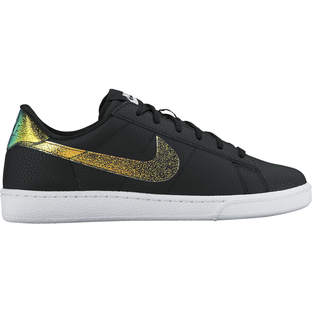 nike tennis classic premium damen sneaker schwarz gold. Black Bedroom Furniture Sets. Home Design Ideas