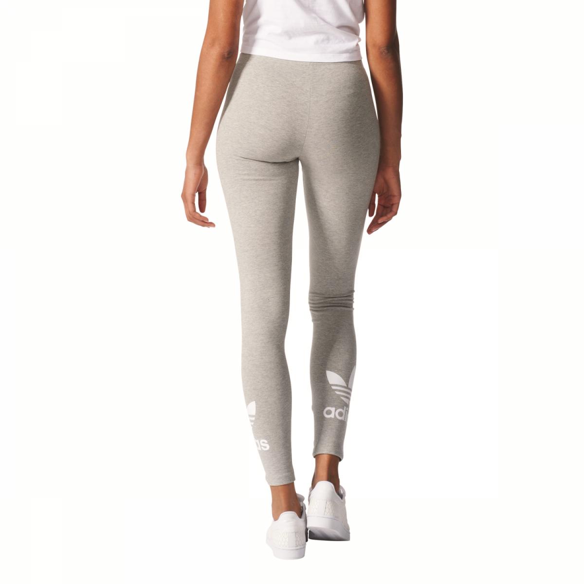 sport klingenmaier adidas originals trefoil leggings damen hose grau online kaufen. Black Bedroom Furniture Sets. Home Design Ideas