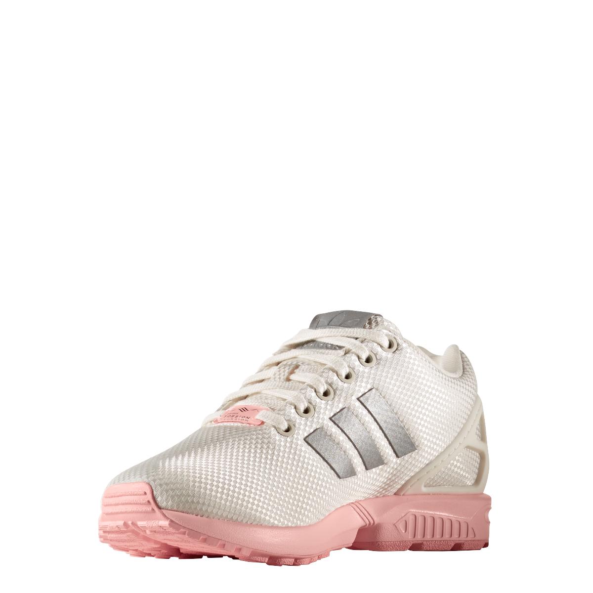 adidas originals zx flux sneaker damen schuhe wei rosa. Black Bedroom Furniture Sets. Home Design Ideas