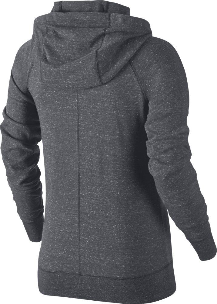 nike gym vintage hoodie damen kapuzensweatshirt grau. Black Bedroom Furniture Sets. Home Design Ideas