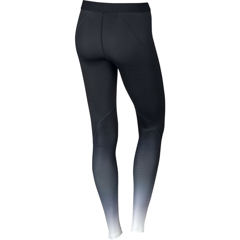 nike pro hyperwarm tight fade damen sporthose schwarz. Black Bedroom Furniture Sets. Home Design Ideas