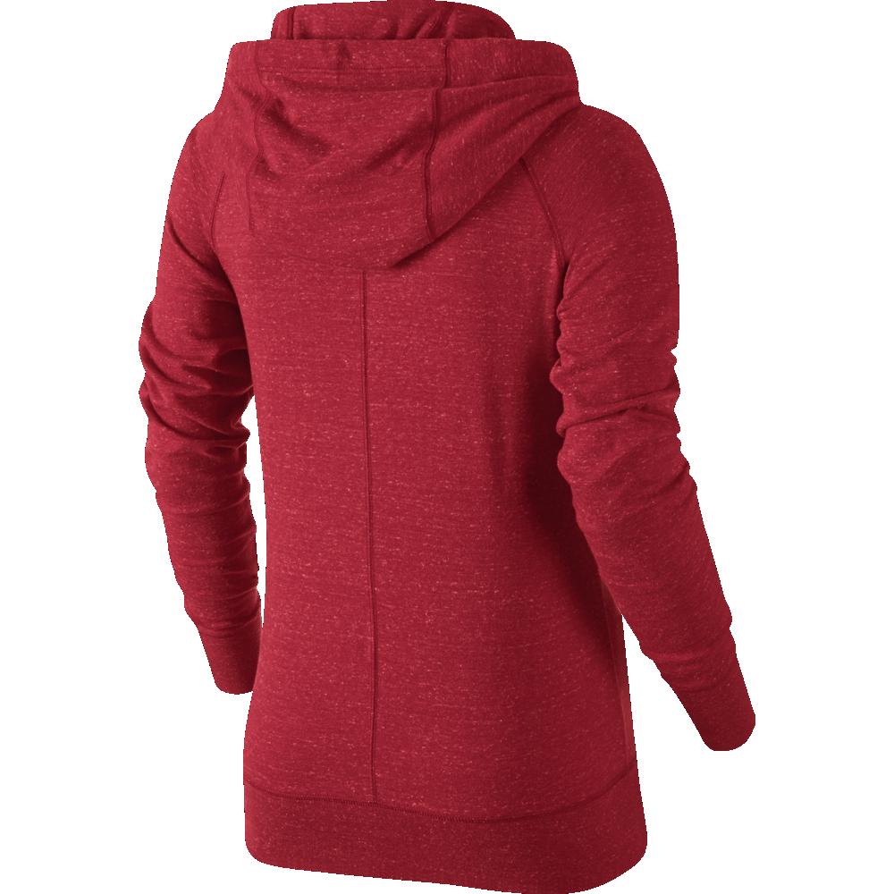 nike sportswear gym vintage hoodie full zip damen rot. Black Bedroom Furniture Sets. Home Design Ideas