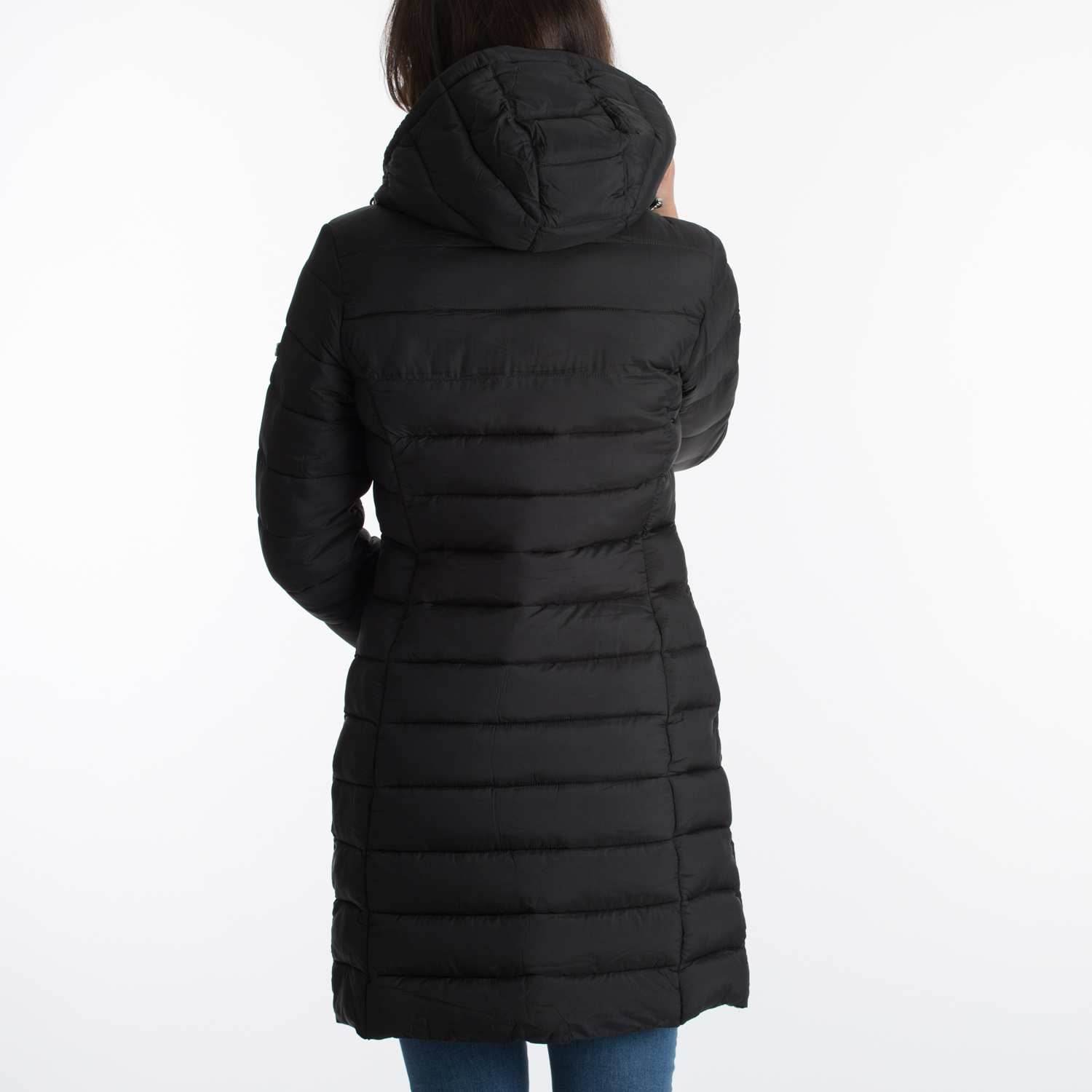 Tommy Jeans Basic Quilted Hooded Coat   DW0DW07805-BBU ...