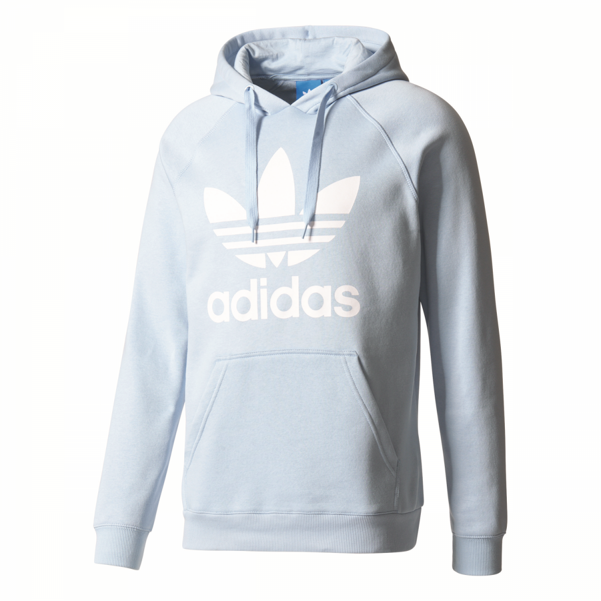 sport klingenmaier adidas originals trefoil hoodie herren kapuzenpullover hellblau online kaufen. Black Bedroom Furniture Sets. Home Design Ideas