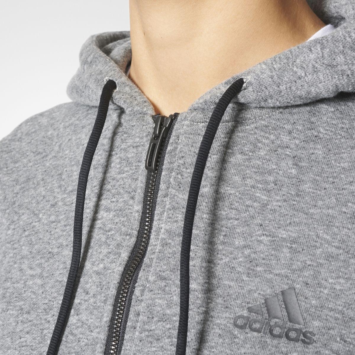 adidas sport id fullzip hoodie damen kapuzenjacke grau. Black Bedroom Furniture Sets. Home Design Ideas