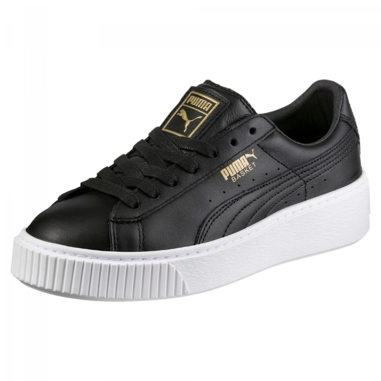 puma basket platform core sneaker damen schuhe schwarz. Black Bedroom Furniture Sets. Home Design Ideas