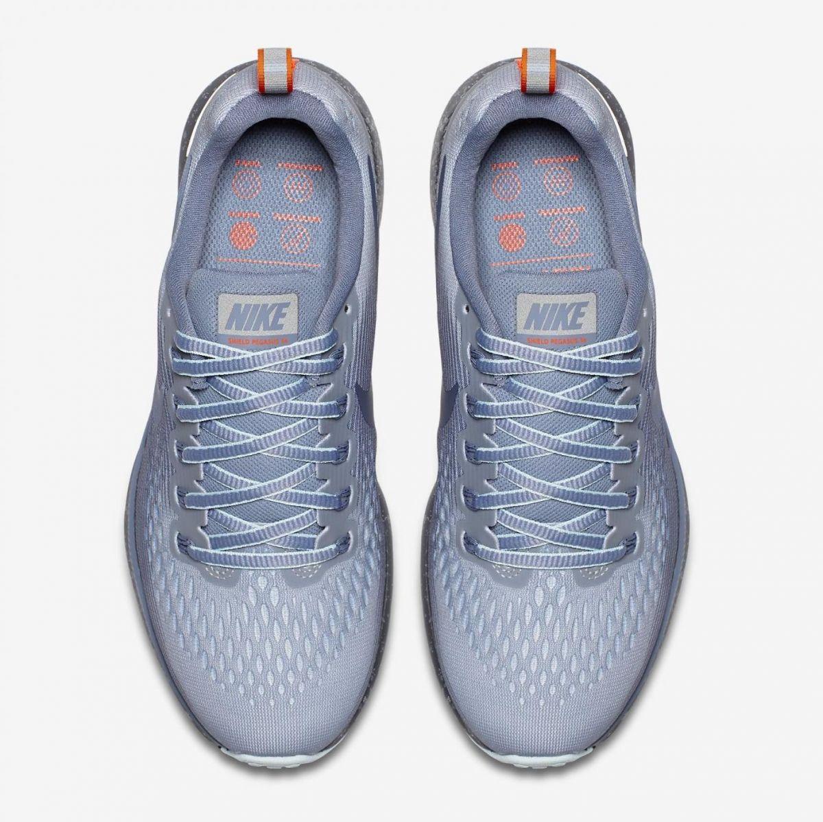 differently 11993 761da Nike Air Zoom Pegasus 34 Shield Damen Laufschuhe Running grau. 1 2 3 4  5 6