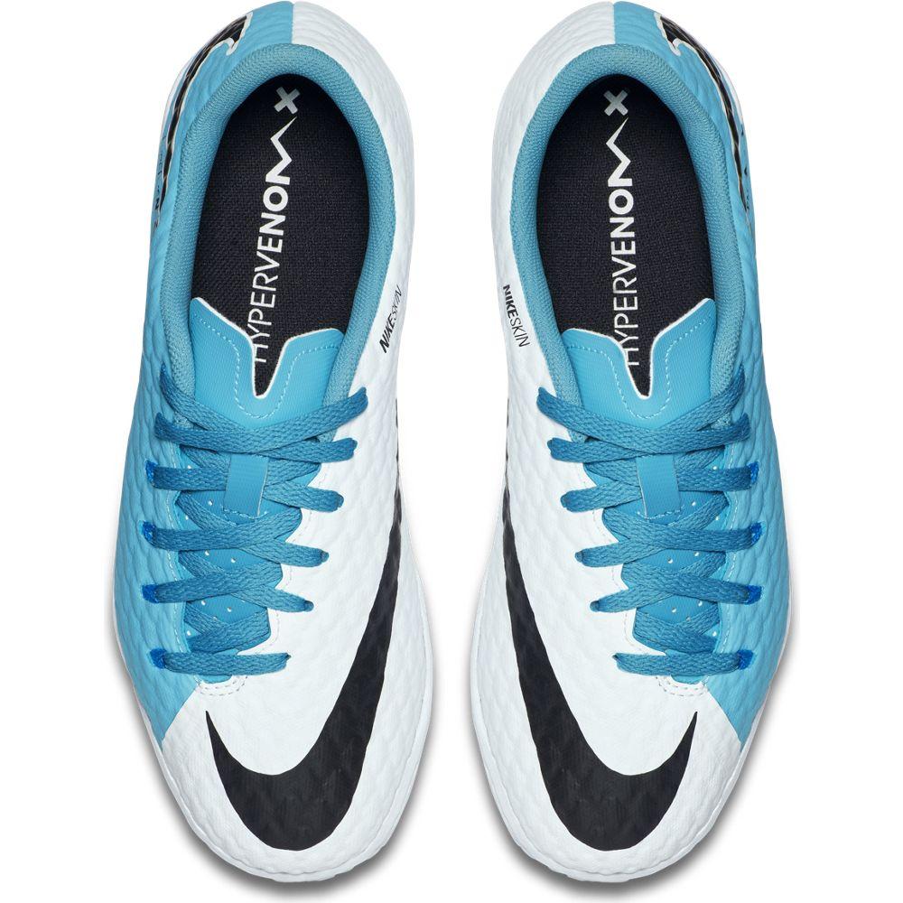 nike hypervenom x phelon iii ic kinder fußball hallenschuhe blau weiß. 1 2 3 4 5 6
